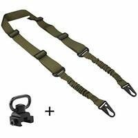 Tactical 2 Point Rifle Sling with QD Sling Swivel Adjustable Length for Hunting