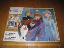 Disney Frozen2, Five Wood Puzzles Set In Wood Storage Box, New