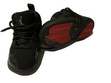 Boys Size 7C Nike Air Jordan High Tops Shoes Black And Red Nike Flight Shoes