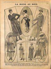 Jupes Tons clairs gris blond Bois Boulogne Chapeau Paris ode Fashion WWI 1916