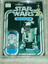 Vintage Star Wars 1978 KENNER AFA 80 R2-D2 ANH 12 Back-C Card MOC CLEAR BUBBLE!