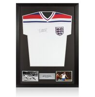 Framed Trevor Francis Signed England Shirt - 1982 Autograph Jersey