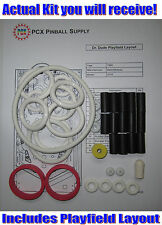 1990 Bally/Midway Dr. Dude Pinball Machine Rubber Ring Kit