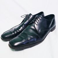 Prada Men's Apron Toe Patent Leather Derby Shoes, Black, sz 10.5 2E pre-owned(7)