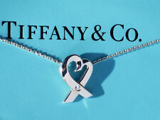 Tiffany & Co Paloma Picasso Sterling Silver Diamond Loving Heart Necklace