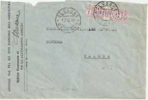 RSI - Clusone 17.10.1944 - Uso in EMERGENZA del Pacco Postale 1 Lira per Varese