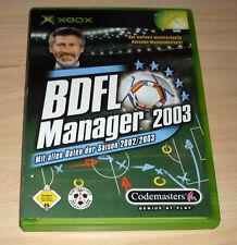 Microsoft XBox Spiel Game - BDFL Manager 2003 ( Fussbal Bundesliga )