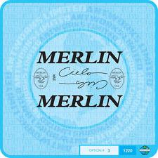 MERLIN USA CIELO Decalcomanie Bicicletta Trasferimenti Adesivi-Set 3-Nero