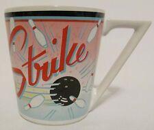 Vintage Pelzman Design Vandor 1987 Made Japan Strike Bowling Pins Cup Mug Bowl