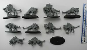 10 FLESH HOUNDS Plastic Blades of Khorne Bloodbound Chaos Daemons Army 83