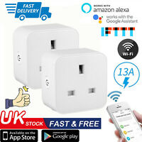 Wi-Fi Smart UK Socket/Plug Compatible For Google Amazon Alexa APP Voice Control~