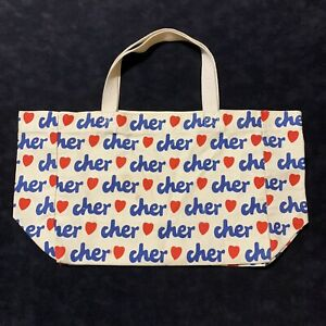 Vintage Love Cher Canvas Tote Bag Pop Music Star 70's 80's