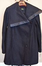 "Sam Edelman ""Fallon"" Asymmetrical Toggle Coat Wool and Faux Leather Sz.M NWT"