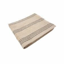 LUXURY STRIPED 100% COMBED COTTON SOFT ABSORBANT TAUPE LATTE BATH SHEET TOWEL