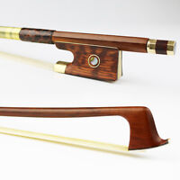 High quality! 4/4 Size Advanced Pernambuco performance Violin Bow Snakewood Frog