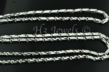 18k solid white gold diamond cut box chain necklace h3jewels #3205 20 inch 8.3gr