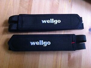 Bicycle Black Toe Clip Double Straps WELLGO Mountain Road Bikes