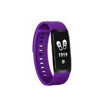 Chigu C7 Purple bluetooth Oled screen heart rate bracelet