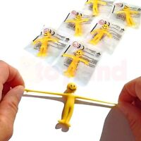 6 x SMILEY STRETCHY MEN TOY WEDDING FAVORS LOOT FUN BIRTHDAY PARTY BAG FILLERS