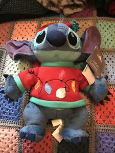 Disney Stitch Light-Up Christmas Jumper Medium Soft Plush Toy Brand New With Tag