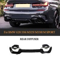 für BMW G20 M330i mit M-Paket 2019-20 Diffusor Heck Auspuffblenden Heckdiffusor