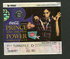 Prince 1993 Concert Ticket Stub Love Symbol London Wembley New Generation Act II