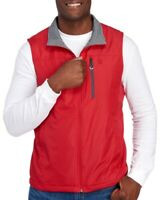 IZOD Mens Red Gray Water Resistant Reversible Vest Jacket NWT $80 Size S