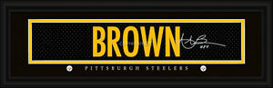 Pittsburgh Steelers Antono Brown Signature Framed Print - NFL Poster Man Cave
