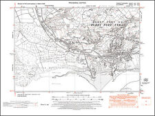 Burry Port, Pembrey, old map Carmarthen 1952: 57NE repro Wales