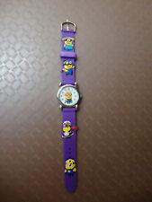 Kids Despicable Me Minion Analogue (PurpleC) Silicone Band wrist watch BRAND NEW