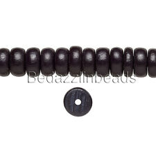 Lot of 40 Colored 8mm x 4mm Round Rondelle Wooden Cheesewood Disc Wood Beads