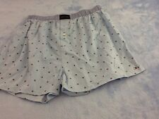 1Pair Tommy Hilfger 100% Cotton COMFY Button-fly Boxer, Light Blue Logo, SMALL