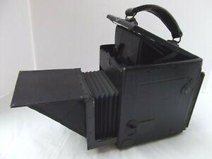 Vtg antique folding Kodak Folmer Graflex Series D box camera