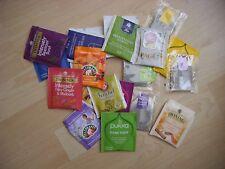 Twenty (20) various green, black, fruit & herbal enveloped teabags/infusions