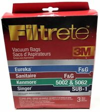Filtrete 3M F&G Upright Vacuum Cleaner Bags #67715A 3 Bags ~ Free Shipping