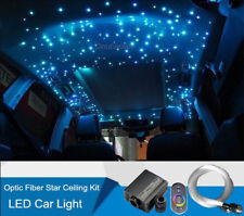 16W RGB Car LED Light 200 Strands Fiber Optic Star Ceiling Kit Touch Remote 12V
