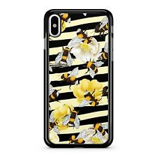 Bumble Bee Honeycomb Zebra Striped Nectar Flowers Pattern 2D Phone Case Cover