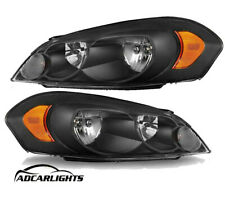 Headlight fit for 06-13 Chevy Impala for Black Housing Amber Reflector Headlamps