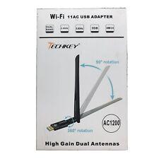 Techkey Usb Wifi Adapter 1200Mbps 11ac High Gain Dual Antenna
