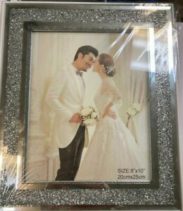 New Crushed Glass Crystal Diamond Photo Frame 8×10 inch