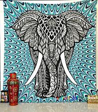 Mandala 3D ELEPHANT wall Hanging Ethnic Throw Queen Bedspread Hippie Blanket