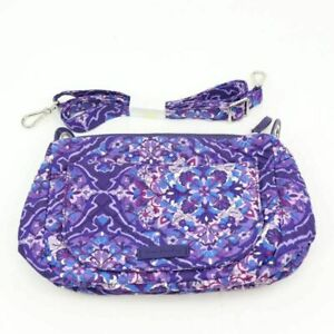 Vera Bradley Womens Carson Mini Shoulder Bag Blue Floral Detachable Strap S New