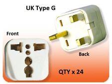 24Pk US USA To UK Ireland UAE British 3 Pin Square Plug Adapter Type G Converter