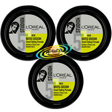 3x Loreal Studio Line Invisi Groom Smart Hair Styling Pomade Cream Medium Hold