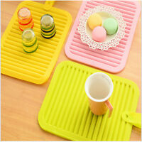 Drying Mat Heat Resistant Silicone Tableware Safe Pad Dinnerware Placemat MA