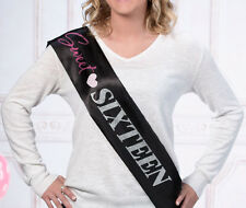 Sweet Sixteen Birthday Party Sash