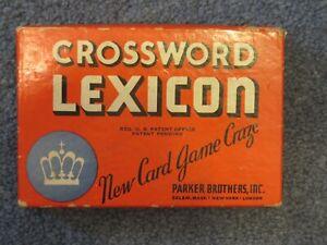 Vintage Crossword Lexicon Game - 1938