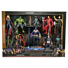 10 Set 16CM Avengers Playset Thanos Hulk Iron Man Spider Man Iron Man Thor Groot