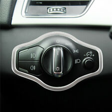Car Headlight Switch Button Frame Stickers Decoration For Audi A4 B8 2010-2016