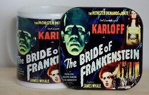 The Bride of Frankenstein Mug and Coaster Set
